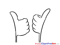 Two Hands download Clipart Thumbs up Cliparts