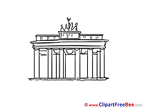 Brandenburg gate Images download free Cliparts