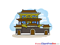 China Temple printable Illustrations for free