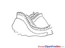 Great Wall China download printable Illustrations