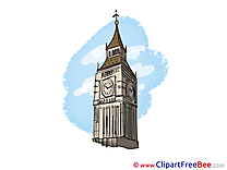 London Big Ben Cliparts printable for free