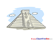 Maya Pyramid free printable Cliparts and Images
