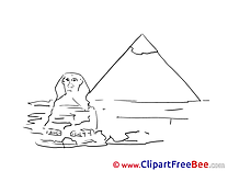Sphinx Pyramids printable Images for download