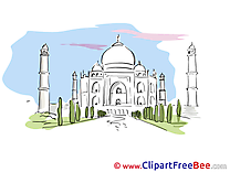 Taj Mahal free Illustration download