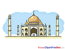 Taj Mahal India free Cliparts for download