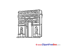 Triumphal Arch Paris Cliparts printable for free