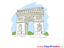 Triumphal Arch Paris free Illustration download