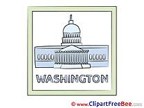 Washington USA printable Illustrations for free