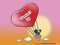 Air Balloon Clip Art download Valentine's Day