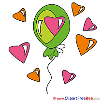 Balloon Hearts Cliparts Valentine's Day for free