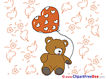 Bear Balloon printable Valentine's Day Images