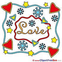 Decoration Hearts Snowflakes free Cliparts Valentine's Day