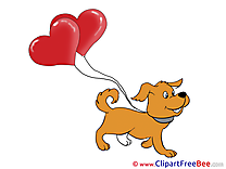 Dog Balloons Clipart Valentine's Day free Images