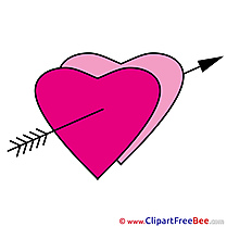 Drawing Heart Cliparts Valentine's Day for free