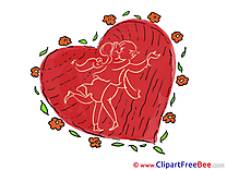 Flowers Heart Cliparts Valentine's Day for free