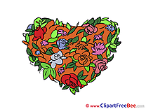 Flowers Heart Valentine's Day download Illustration