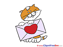 Letter Cat Pics Valentine's Day free Cliparts