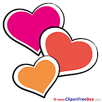 Picture Hearts Valentine's Day Clip Art for free