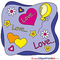 Stars Balloon Heart printable Illustrations Valentine's Day (1)