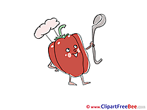 Pepper Cook Clipart free Image download