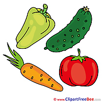 Vegetables Carrot Tomato Cliparts printable for free
