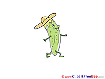 Walking Cucumber download Clip Art for free