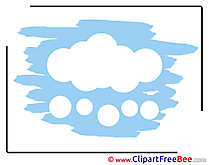 Blue Sky Cloud free printable Cliparts and Images