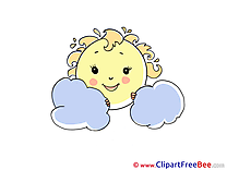 Clouds Sun Clipart free Illustrations