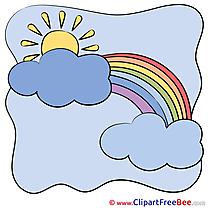 Drawing Sun Clouds Rainbow free printable Cliparts and Images