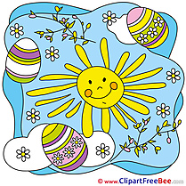 Easter Eggs Sun Weather download Clip Art for free
