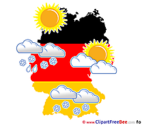 Germany Weather Sun Clouds printable Illustrations for free