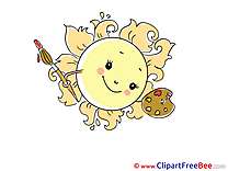 Painter Sun download printable Illustrations