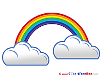 Rainbow Clouds printable Images for download