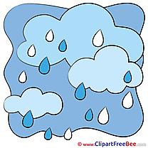 Sky Rain Weather Clipart free Illustrations