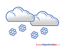 Snow Clouds Clipart free Image download