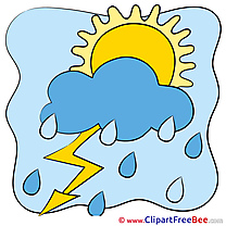 Thunder Rain Weather Pics download Illustration