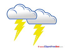 Thunderstorm Clouds Pics download Illustration