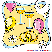 Balloons Glasses Champagne free Cliparts Wedding