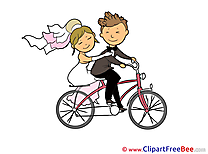 Bicycle free Cliparts Wedding