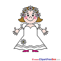 Bride printable Illustrations Wedding