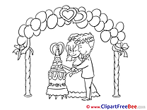 Cake Wedding Illustrations for free