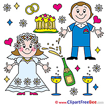 Cliparts Newly married Wedding for free