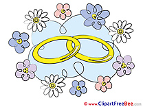 Golden Rings printable Wedding Images