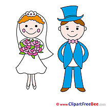 Groom and Bride download Clipart Wedding Cliparts