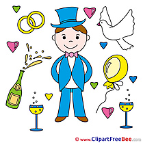 Groom Rings Champagne Wedding Clip Art for free