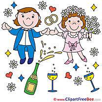 Holiday Champagne Wedding download Illustration
