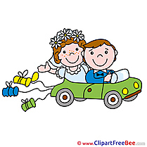 Limousine Couple Cliparts Wedding for free