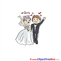 Newly married Clip Art download Wedding
