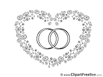 Rings Heart Clipart Wedding Illustrations