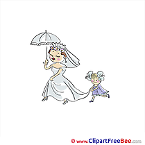 Umbrella Bride Cliparts Wedding for free